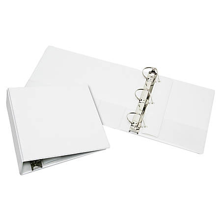 "SKILCRAFT® Slanted D-Ring View Binder, 4"" Rings, 60% Recycled, White (AbilityOne 7510-01-495-0696)"