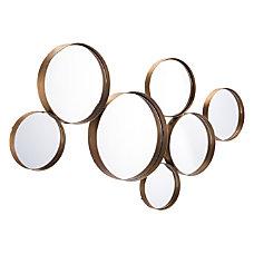Zuo Modern Teo Circular Mirror Gold