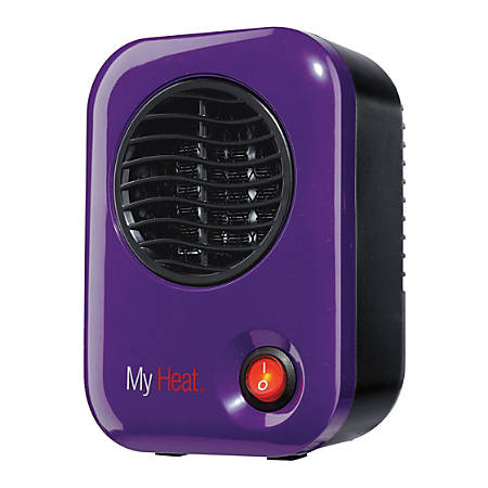 "Lasko MyHeat™ 200-Watt Personal Electric Heater, 3.8""H x 6.1""W 4.3""D, Purple"