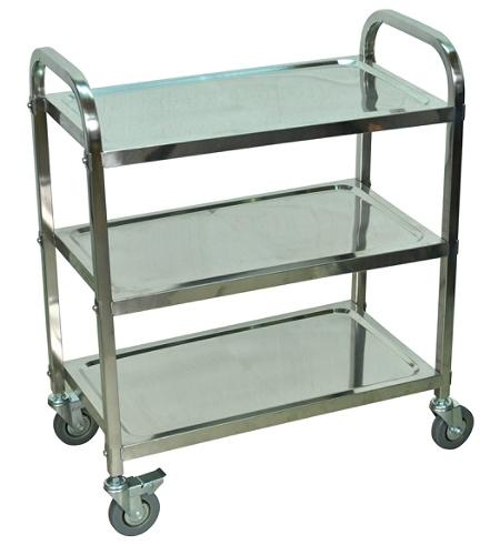Luxor L100S3 Stainless-Steel 3-Shelf Kitchen Cart, 35\