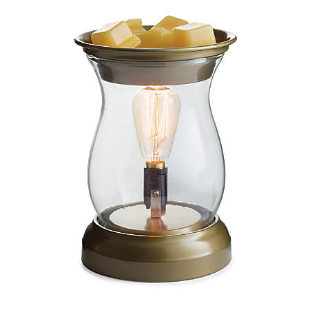 "Candle Warmers Etc Edison Bulb Illumination Fragrance Warmer, 5-13/16"" x 8-13/16"", Hurricane"