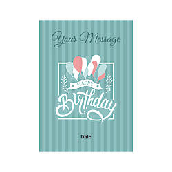 Flat Photo Greeting Card Birthday Balloons