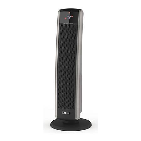 Lasko 5586 Radiative Heater - Ceramic - Electric - 1500 W - 2 x Heat Settings - Yes - Tower - Dark Gray