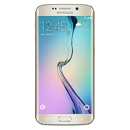 Samsung Galaxy S6 Edge G925T Cell Phone, Gold Platinum, PSN101057