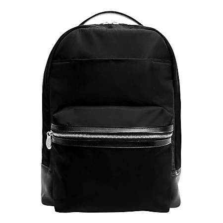 "McKlein N-Series Parker Nano Tech Backpack With 15"" Laptop Pocket, Black"