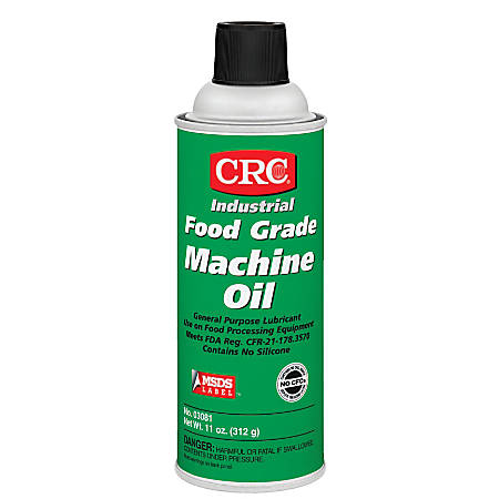 CRC Food-Grade Machine Oil, 16 Oz Aerosol Cans, Pack Of 12 Cans