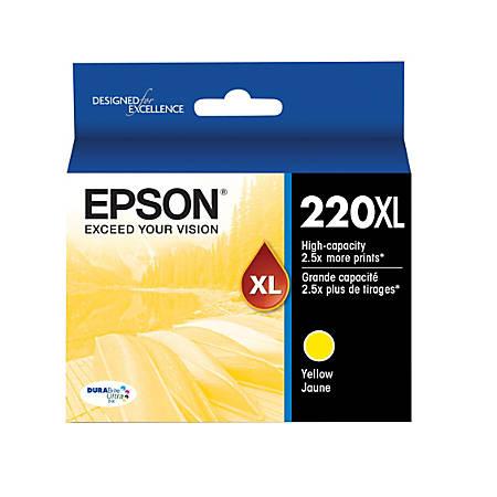 Epson® DuraBrite® T220XL420-S High-Yield Yellow Ink Cartridge