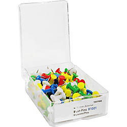Sparco Pushpins 38 Assorted Colors Box