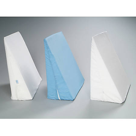 """Replacement Covers for Bed Wedge Pillows, 24"""" x 24"""" x 10"""", White"""