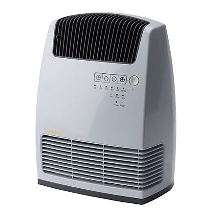 Lasko Electronic Ceramic Heater with Warm Air Motion Technology - Ceramic - Electric - 1500 W - 2 x Heat Settings - Yes - 1500 W - Portable - White