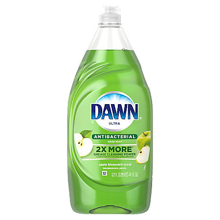Dawn® Ultra Dishwasher Soap, Antibacterial, Apple Scent, 41 Oz, Green