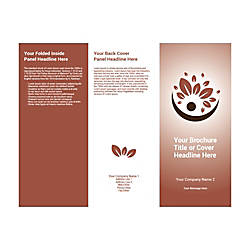 Customizable Trifold Brochure Brown Leaves