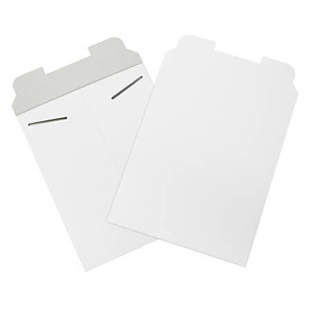 "Office Depot® Brand White Flat Mailers, 9 3/4"" x 12 1/4"", Box Of 100"