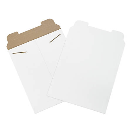 "Office Depot® Brand White Flat Mailers, 11"" x 13 1/2"", Box Of 100"