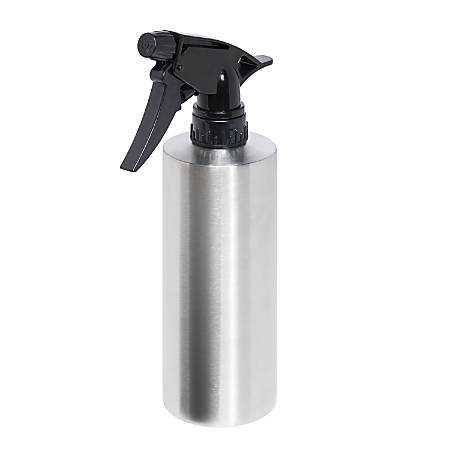 Honey-Can-Do Empty Stainless Steel Spray Bottle, 14 Oz, Silver