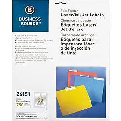Business Source LaserInkjet Perm File Folder