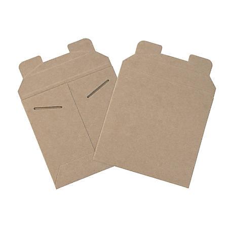 "Office Depot® Brand Kraft Flat Mailers, 6"" x 6"", Box Of 200"