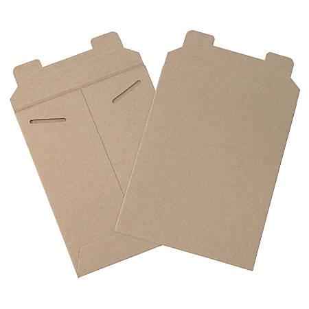 "Office Depot® Brand Kraft Flat Mailers, 7"" x 9"", Box Of 100"