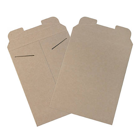 "Office Depot® Brand Kraft Flat Mailers, 9"" x 11 1/2"", Box Of 100"