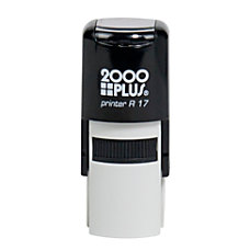 2000 PLUS R17 Self Inking Round