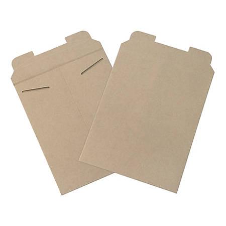 "Office Depot® Brand Kraft Flat Mailers, 9 3/4"" x 12 1/4"", Box Of 100"