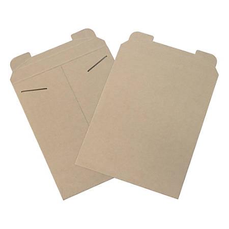 "Office Depot® Brand Kraft Flat Mailers, 11"" x 13 1/2"", Box Of 100"