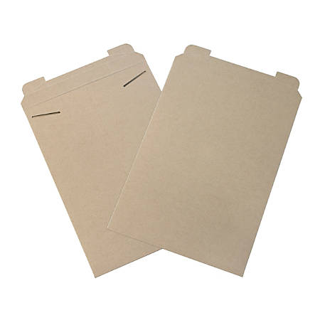"Office Depot® Brand Kraft Flat Mailers, 13"" x 18"", Box Of 100"