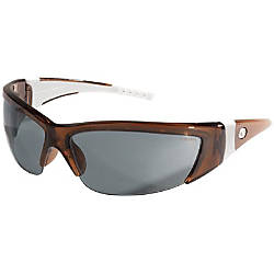 TRANSLUCENT BROWN FRAME WHT RUBBER CLEAR