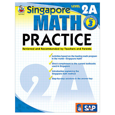 Carson-Dellosa Singapore Math Practice, Level 2A, Grade 3