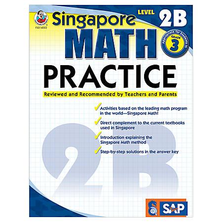Carson-Dellosa Singapore Math Practice, Level 2B, Grade 3