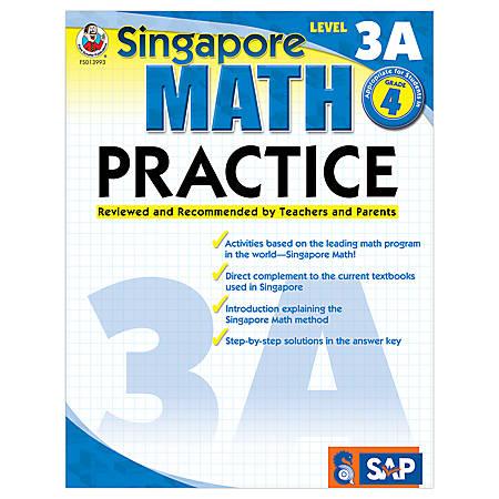 Carson-Dellosa Singapore Math Practice, Level 3A, Grade 4