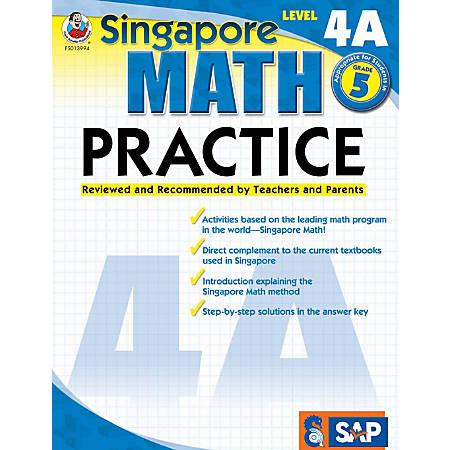 Common Core Math Practice Workbook, Math Level 4A, Grade 5
