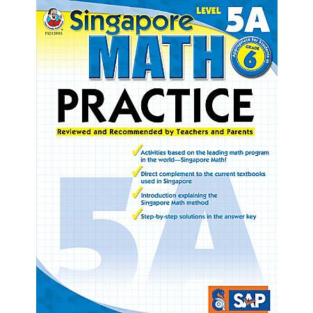 Common Core Math Practice Workbook, Math Level 5A, Grade 6