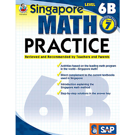 Common Core Math Practice Workbook, Math Level 6B, Grade 7