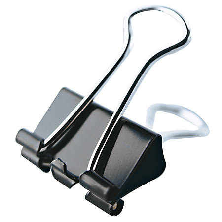 office depot brand binder clips small 34 wide 38 capacity black pack