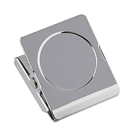 """Office Depot® Brand Magnetic Clips, 1 1/4"""", Silver, Pack Of 2"""