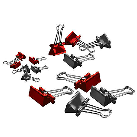 """Office Depot® Brand Binder Clips, Small, 3/4"""" Wide, 3/8"""" Capacity, Assorted Colors, Pack Of 36"""