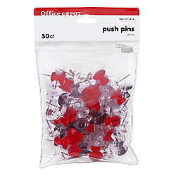 Office Depot Brand Pushpins 716 Assorted
