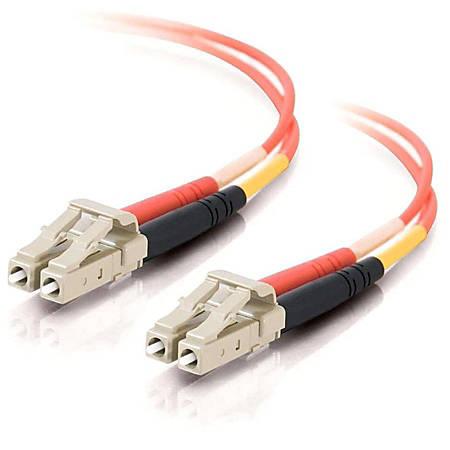 C2G 6m LC-LC 62.5/125 OM1 Duplex Multimode PVC Fiber Optic Cable (USA-Made) - Orange