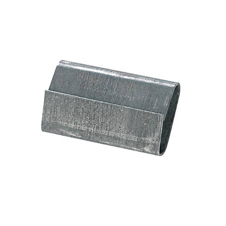 "Closed/Thread On Regular Duty Steel Strapping Seals, 1/2"" x 1"", Case Of 5,000"