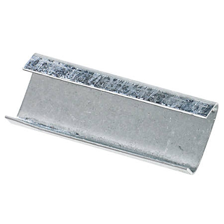 "Heavy-Duty Open/Snap On Steel Strapping Seals, 3/4"" x 2 "", Case Of 1,000"