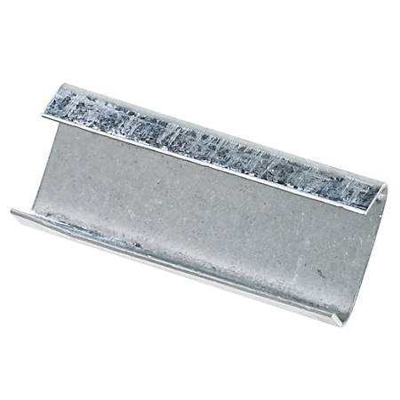 "Heavy-Duty Open/Snap On Steel Strapping Seals, 1 1/4"" x 2 1/4"",Case Of 1,000"