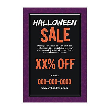 Single-Sided Flyers, Purple Halloween, Vertical