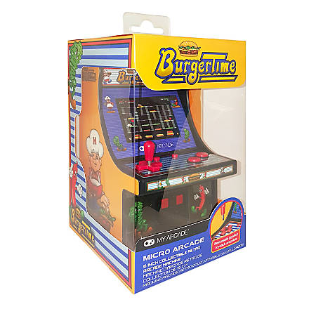 DreamGear Collectible Retro Micro Player, Burgertime, Black/Yellow