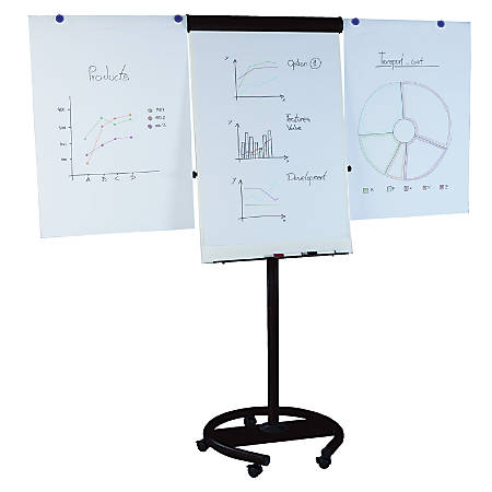 "MasterVision® 360° Magnetic Gold Ultra™ Dry-Erase Board, 27"" x 38"", Black Frame"