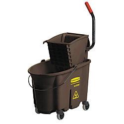 Rubbermaid® WaveBrake® Bucket And Wringer, 35 Quart, Brown
