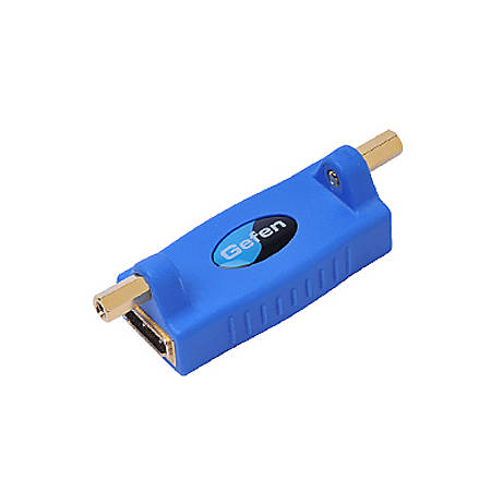 Gefen HDMI Adapter with Mono-Lok - 1 x HDMI (Type A) Female Digital Audio/Video - 1 x HDMI (Type A) Female Digital Audio/Video