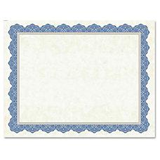 Geographics Drama Blue Border Blank Certificates