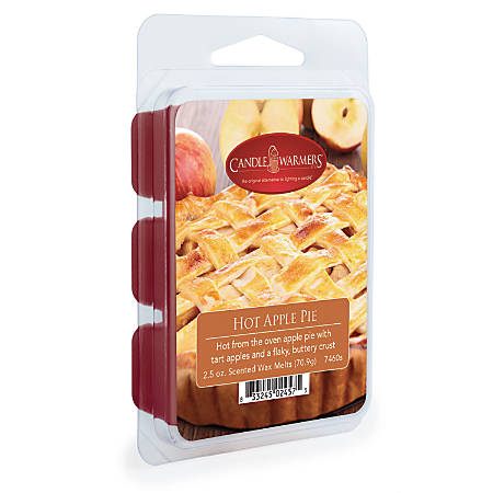 Candle Warmers Etc Wax Melts, Hot Apple Pie, 2.5 Oz, Case Of 4 Packs