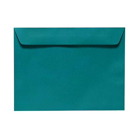 "LUX Booklet Envelopes With Moisture Closure, #9 1/2, 9"" x 12"", Teal, Pack Of 50"